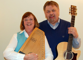 Martin & Jen McPherson with Instruments